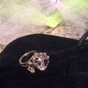 Juicy Couture Retired Crystal Butterfly Ring